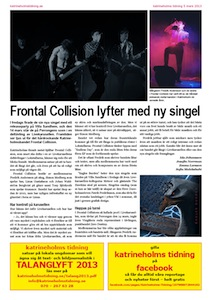 Frontal Collision, Katrineholms Tidning 2013
